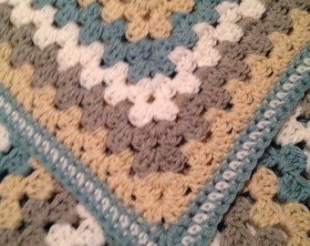 Crocheted Large Granny Square Blanket