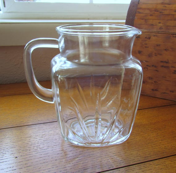 Small Size Pitcher Star Bottom Federal Glass