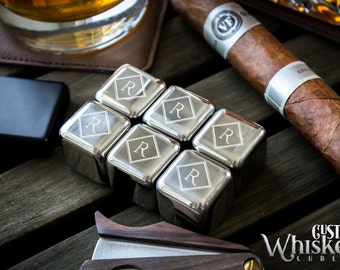 Groomsmen Gift, Personalized Whiskey Stones, Custom Whiskey Stainless Steel Cubes, Wedding Gift, Stainless Steel Whiskey Stone
