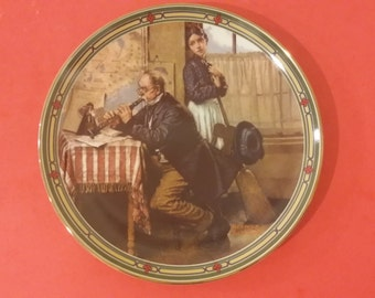 Norman Rockwell the Musician's Magic Plate, Musician Series, Knowles Collector, 1986