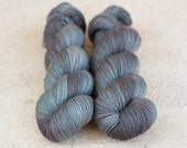 Hand Dyed 100% Merino SW Fingering Weight Yarn - 4ply - 100 grams - 400m/440yards - Basalt