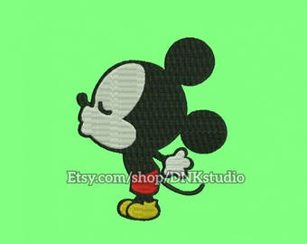 Mickey Mouse Kissing Embroidery Design - 5 Sizes - INSTANT DOWNLOAD