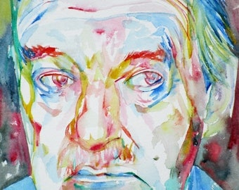 VLADIMIR NABOKOV - original watercolor portrait - one of a kind!