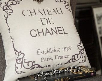 chanel bag,coco chanel,French pillow,Paris pillow,Paris decor,decor,Paris gifts,French sign,ivory pillow,parisian,coco pillow,coco quotes
