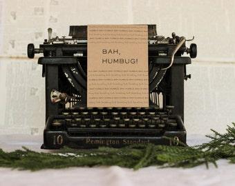 Bah Humbug A Christmas Carol Card