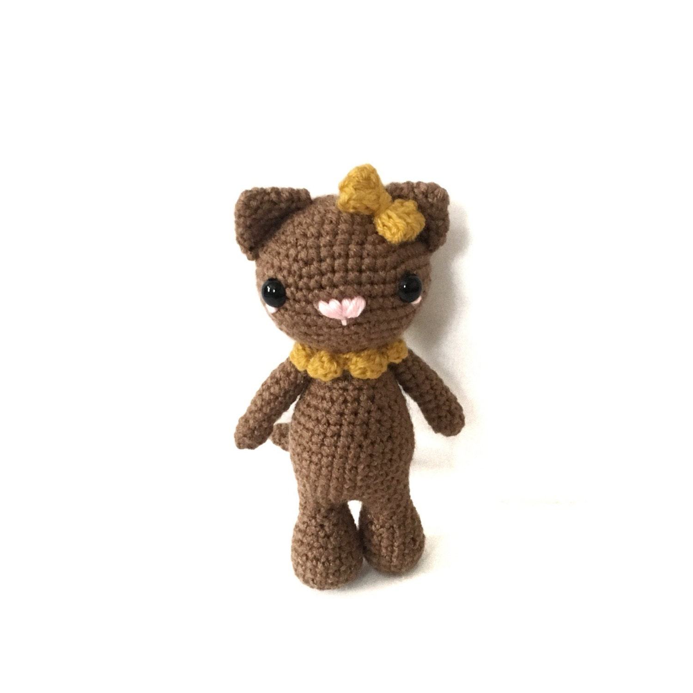 Amigurumi Cat Toys : Amigurumi Cat Toy Crochet Cat Plush Stuffed Toy Cat Nursely