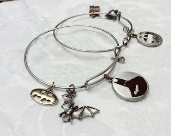 Batman Charm Expandable Bracelets