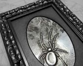 Acanthus Spider : hand embossed repoussé metal wall art