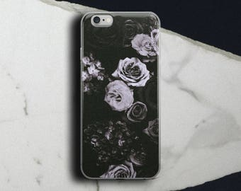 Goth rose iphone case, Goth Girl iphone case, Rose iphone case, Romantic iphone case, Floral iphone, Lavender rose case, Tumblr iphone case