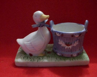 Ceramic Duck Candle Holder, Country Candle Holder, Ducks, Country Blue, Votive Candle Holder
