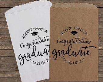 Graduation Party Favors Graduate Favor Bags Candy Bags Candy Bags Personalized Favor Bags Candy Buffet 213
