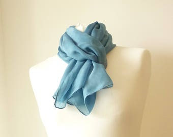 indigo scarf indigo silk scarf blue scarf blue silk scarf eco friendly scarf blue indigo scarf hand dyed scarf eco dyed scarf