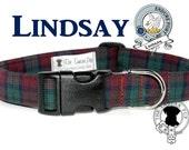 Lindsay Tartan Dog Collar, Clan Lindsay