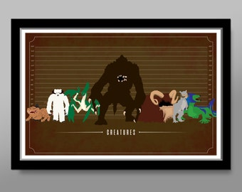 Force Creatures Inspired Movie Poster - Home Decor