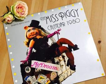 Vintage Miss Piggy 1980s Wall Calendar Muppets