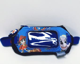 Double insulin pump with window pouch and cell phone pouch