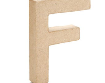 Paper Mache Letter -F- 6 inches,Cardboard Letter,Craft Project,Embellishment letter