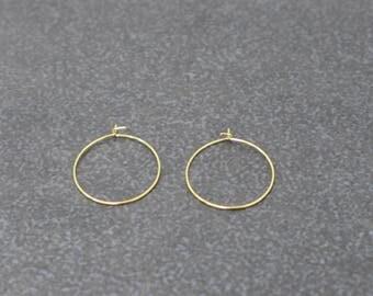 16k Gold Vermeil 925 Steling Silver Hoop Earring Component,19mm,30mm,Wholesale Price