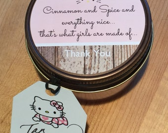 12 Baby Shower Favors. Free Shipping. Soy Candles. Hello Kitty. It's a girl. It's a boy.