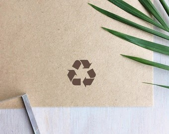Mini Recycle Symbol Stamp | Recycled Stamp - Eco Friendly - Recycled Materials - Recycle Arrows