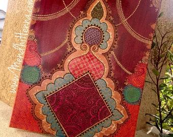 16x20 henna painting