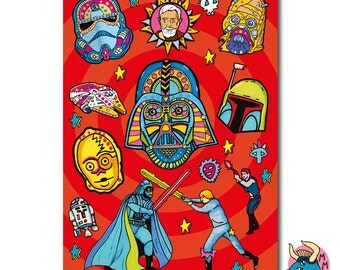 Star Wars Sketchbook, Darth Vader Sketch Pad, A5 Notebook, Plain Paper, Star Wars Notepad, Star Wars Stationery, Boys Gift, Teen Boys Gift.