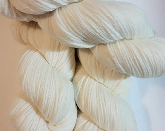 Undyed Luxury Superwash Merino 100g skeins dk, double knit wool, knitting, crochet, hand dyed yarn,