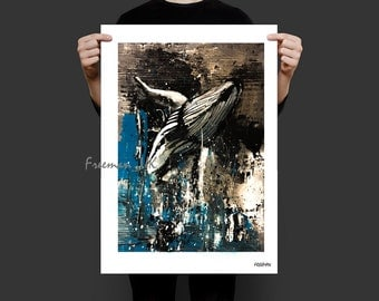Humpback Whale Abstract Fine art Giclee print