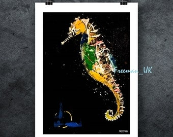 Seahorse Abstract fine art Giclee print