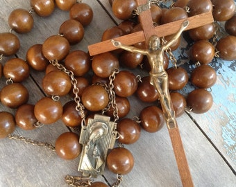 Rosary Beads, Giant Rosary Beads, Wooden Rosary Beads, Wooden Rosary Beads, Large Rosary Beads, Antique Rosary Beads, Large Rosary Beads,