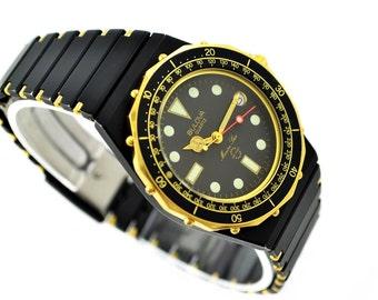 Vintage Bulova Marine Star Mens PVD Quartz Watch 1089  -  Make me an offer!