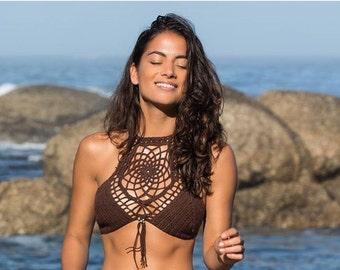 Dreamcatcher Halter Crochet Bikini top