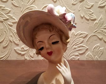 Vintage Lefton's Head Vase 1843