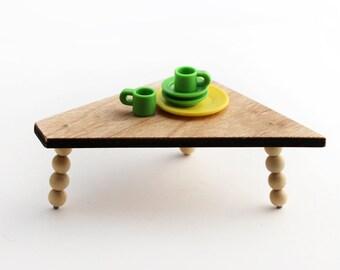 Plywood Polygon Table - Mid Century Modern Miniature