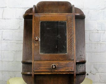 Antique Bauhaus Kitchen Medicine Cabinet Apothecary Beveled glass Mirror