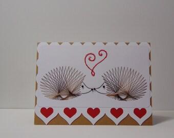Hedgehogs Valentine Card