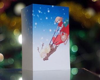 Sleigh Ride Christmas Card