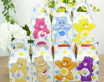 Care Bears Favor Box Candy Box Gift Box Cupcake Box Boy Kids Birthday Party Supplies Decoration Event Party Supplies