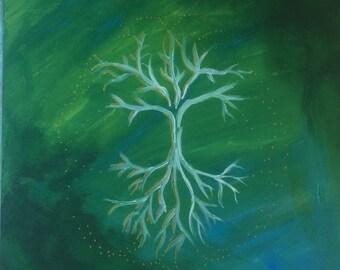 Tree of life, acrylic on wood