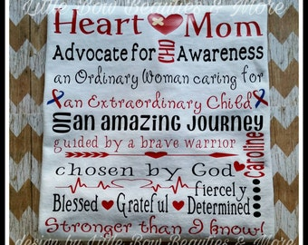 CHD Heart Mom Shirt personalized with your Heart Warrior/Angels Name