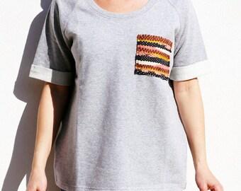 Sweatshirt cotton, grey mottled