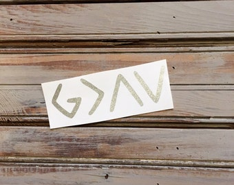 God is Greater Than the Highs and Lows Decal // God is Greater than the Ups and Downs Decal // God is Greater Than Decal // God is Greater