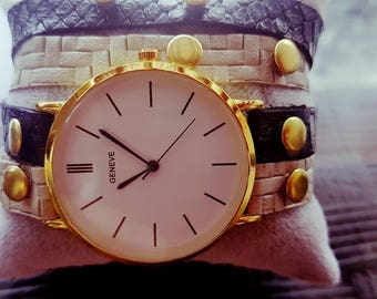Handmade watches, elements can be combined from reception Watches for men and women Leather of various kinds including fashion accessories