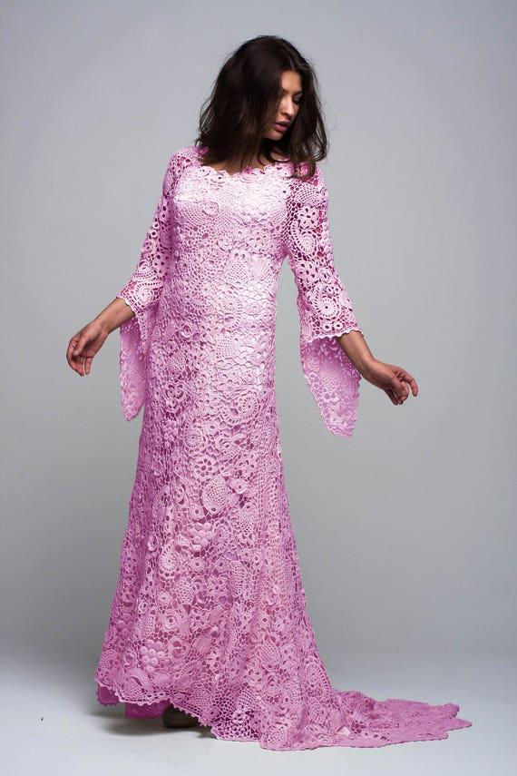 hochzeit h keln handmade rosa kleid hochzeit irische spitze. Black Bedroom Furniture Sets. Home Design Ideas