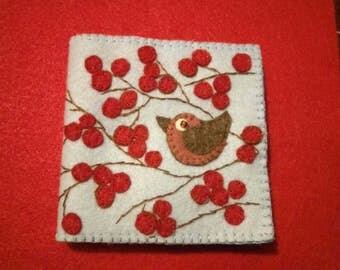 Little Bird and Berries Needle Book Storage