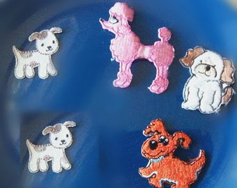 5pcs/lot dog puppy  collection iron on patch   3-4cm
