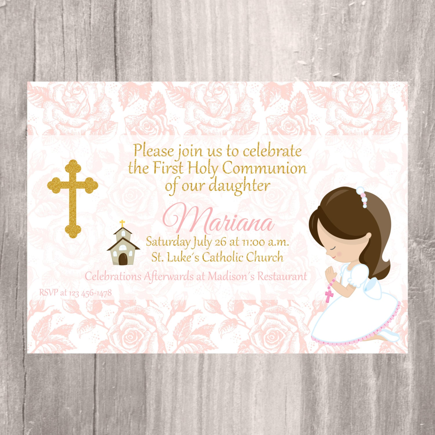 Slobbery image inside first communion invitations free printable