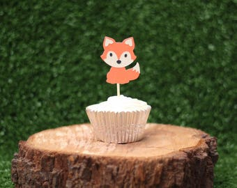 Little fox cupcake toppers