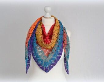 Crochet towel, shawl, scarf