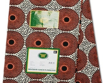 WHOLE 6 YARDS Original Vlisco Hollandais Wax Print Cotton African Fabric For Dressmakings/pagnes/Multicoloured